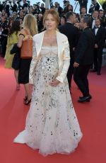 Pregnant CAROLINE RECEVEUR at Girls of the Sun Premiere at Cannes Film Festival 05/12/2018
