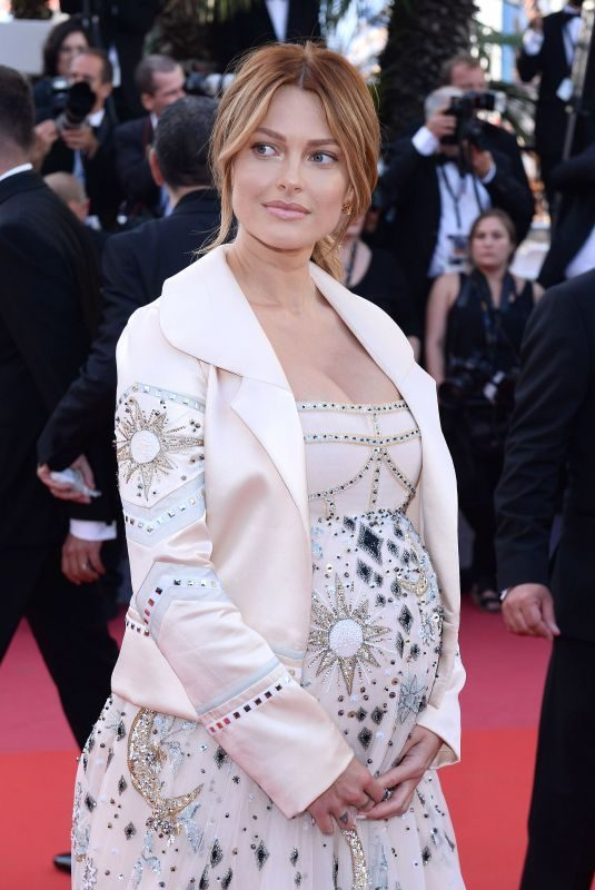 Pregnant CAROLINE RECEVEUR at Girls of the Sun Premiere at Cannes Film Festival 05/12/2018