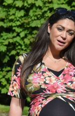Pregnant CASEY BATCHELOR Out and About in Essex 05/03/2018