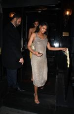 Pregnant CHANEL IMAN Night Out in London 05/29/2018