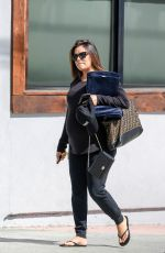 Pregnant EVA LONGORIA Leaves a Hair Salon in Los Angeles 05/25/2018