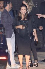 Pregnant EVA LONGORIA Out for Dinner at Nobu in Los Angeles 05/19/2018