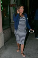 Pregnant EVA LONGORIA Out for Dinner at Via Veneto in Santa Monica 05/27/2018