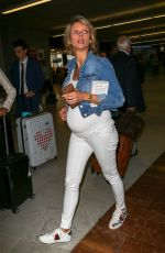 Pregnant SYLVIE TELLIER and IRIS MITTENAERE at Nice Airport 05/10/2018