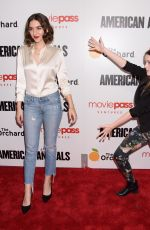 QUINN SHEPHARD and NADIA ALEXANDER at American Animals Premiere in New York