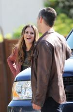 RACHEL BILSON and Eddie Cibrian on the Set of Take Two in New Westminster 05/17/2018