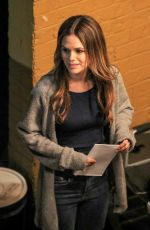 RACHEL BISLON on the Set of Take Two in Vancouver 05/15/2018