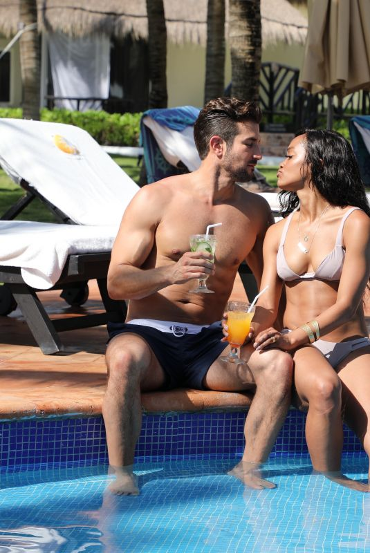 RACHEL LINDSAY in Bikini at Riviera Maya in Mexico 05/29/2018