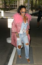 RIHANNA Leaves Her Hotel in New York 05/05/2018