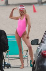 ROMEE STRIJD in Swimsuit on the Set of a Photoshoot in Malibu 05/13/2018