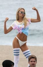 ROMEE STRIJD on the Set of a Photoshoot at a Beach in Malibu 05/12/2018