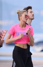 ROMEE STRIJD Out Jogging in Cannes 05/08/2018