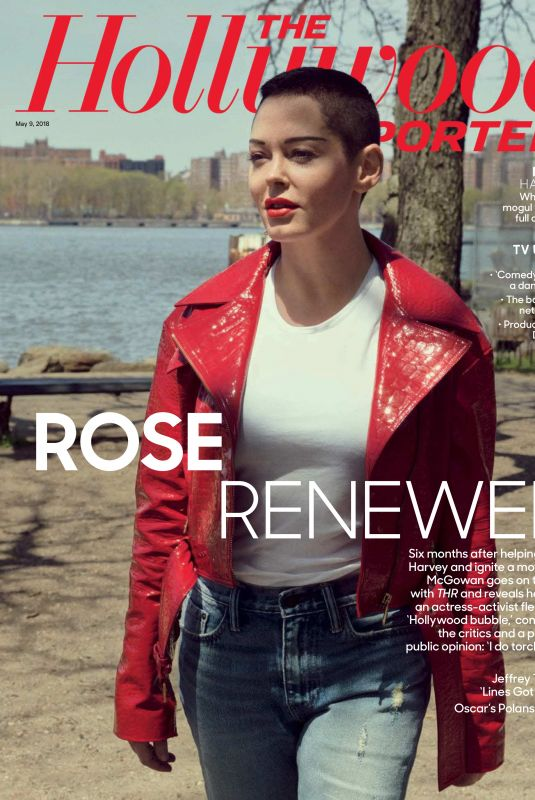 ROSE MCGOWAN in The Hollywood Reporter, May 2018 Issue