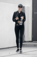 ROSIE HUNTINGTON-WHITELEY Leaves Body by Simone Gym in West Hollywood 05/14/2018