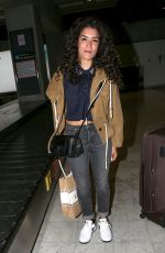 SABRINA OUAZANI Arrives at Airport in Nice 05/14/2018