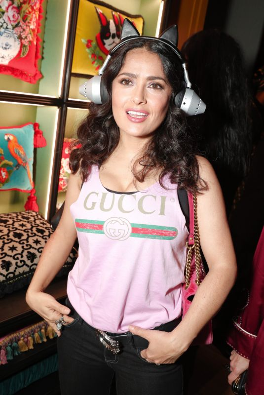 SALMA HAYEK at Ggucci Wooster Store Opening in New York 05/05/2018