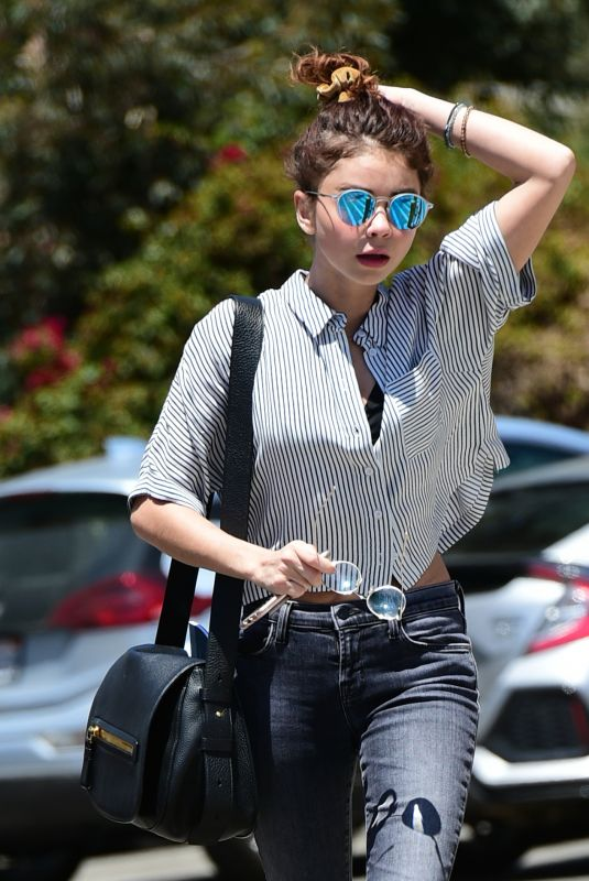 SARAH HYLAND Heading to a Tanning Salon in Los Angeles 05/03/2018