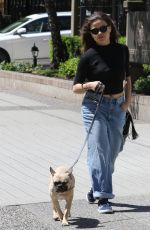 SARAH JEFFERY Out with Her Dog in Vancouver 05/12/2018