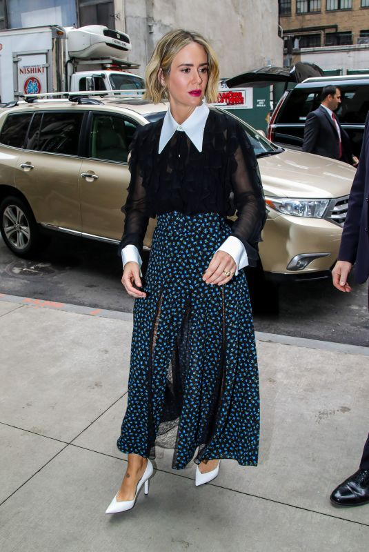 SARAH PAULSON Arrives at Her Hotel in New York 05/22/2018