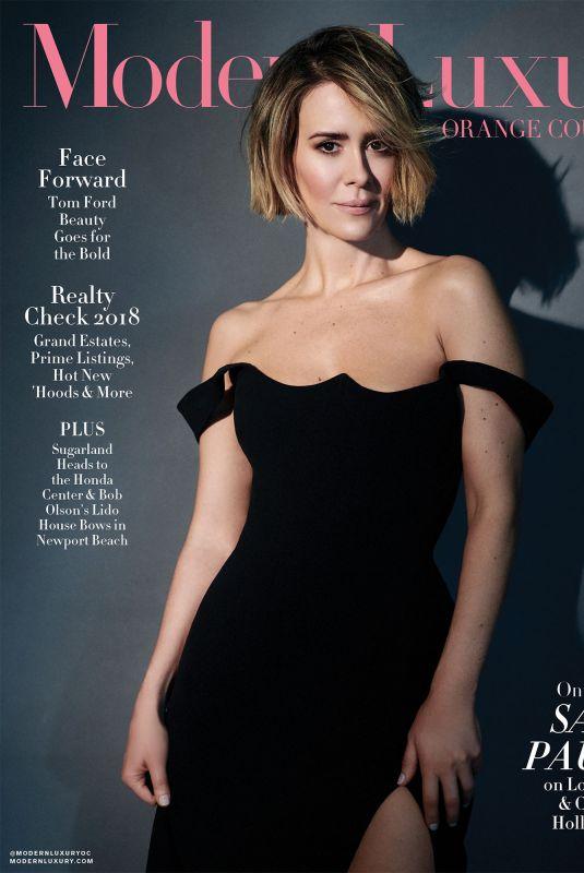 SARAH PAULSON in Modern Luxury Magazine, June 2018