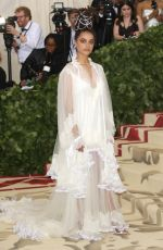 SASHA LANE at MET Gala 2018 in New York 05/07/2018