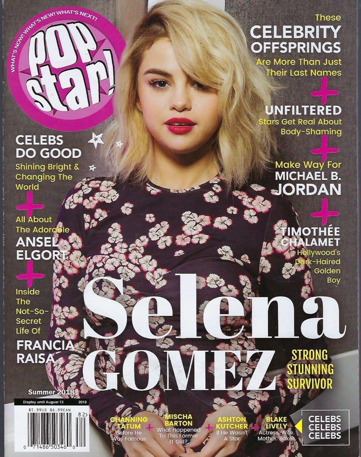 SELENA GOMEZ On The Cover Of Pop Star! Magazine, Summer