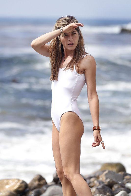 SELMA BLAIR in Swimuit at a Beach in Palos Verdes 05/07/2018
