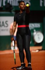 SERENA WILLIAMS in Tights at French Open Tennis Tournament 2018 in Paris 05/29/2018