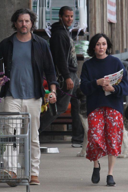 SHANNEN DOHERTY Out Shopping in Malibu 05/27/2018