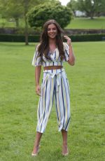 SHELBY TRIBBLE on the Set of The Only Way is Essex at Colchester Castle 05/10/2018