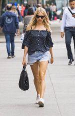SIENNA MILLER in Denim Shorts Out in New York 05/22/2018
