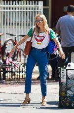 SIENNA MILLER Leaves Bar Pitti in New York 05/09/2018