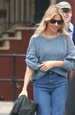 SIENNA MILLER Out in New York 05/18/2018