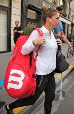 SIMONA HALEP Leaves Her Hotel in Paris 05/28/2018