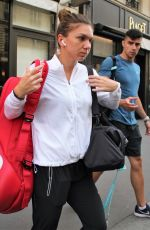 SIMONA HALEP Leaves Her Hotel in Paris 05/28/2018