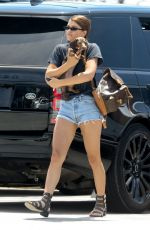 SOFIA RICHIE in Denim Shorts Out in Malibu 05/04/2018