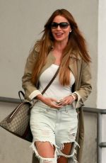 SOFIA VERGARA in Ripped Jeans Out in Beverly Hills 05/11/2018