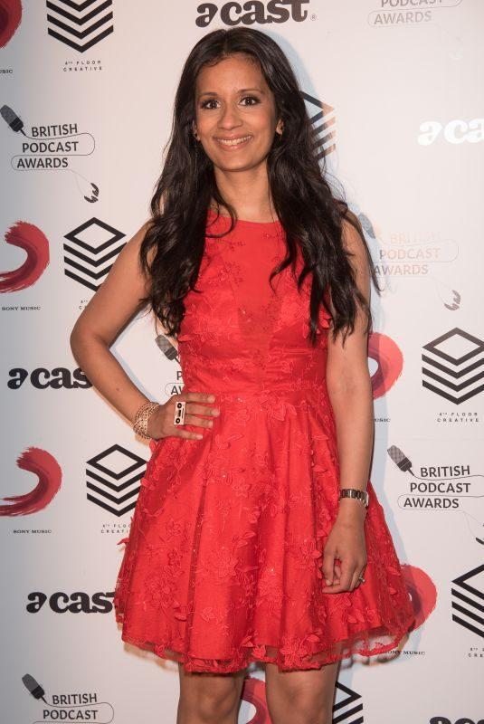 SONAIL SHAH at British Podcast Awards in London 05/19/2018