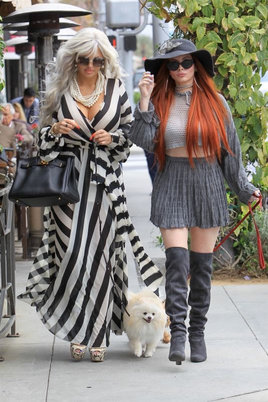 SOPHIA VEGAS WOLLERSHEIM and PHOEBE PRICE Out in Beverly Hills 05/01/2018