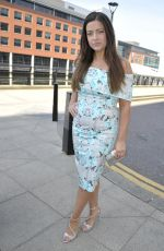 SOPHIE AUSTIN Arrives Jennifer Metcalfes Baby Christening in Liverpool 05/20/2018