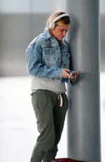 SOPHIE MONK at Heathrow Airport in London 05/18/2018