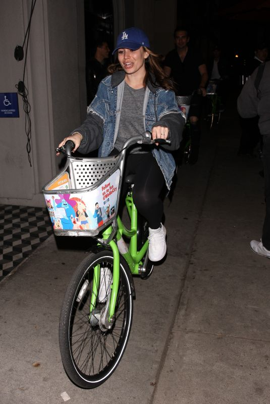 SOPHIE SIMMONS at a Bike Ride in West Hollywood 05/27/2018