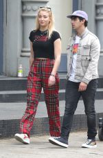 SOPHIE TURNER and Joe Jonas Out in New York 05/04/2018