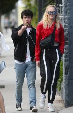 SOPHIE TURNER and Joe Jonas Shopping at Kitson Kids in West Hollywood 05/02/2018