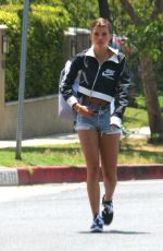 SPFIA RICHIE in Denim Shorts Out in Los Angeles 05/10/2018