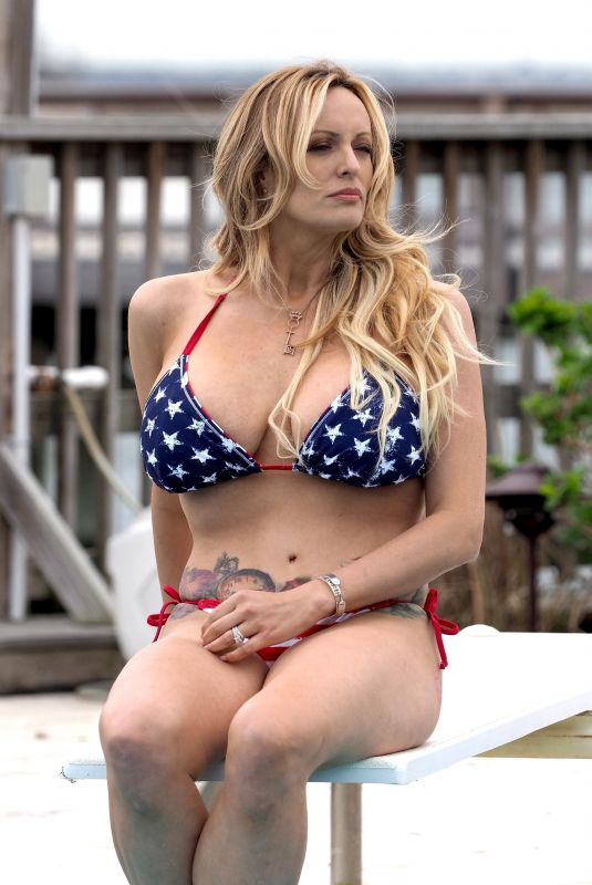 STORMY DANIELS in Bikini at a Pool in Long Beach 05/05/2018