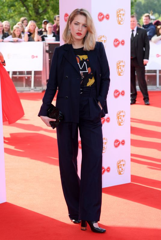 TESS WARD at Bafta TV Awards in London 05/13/2018