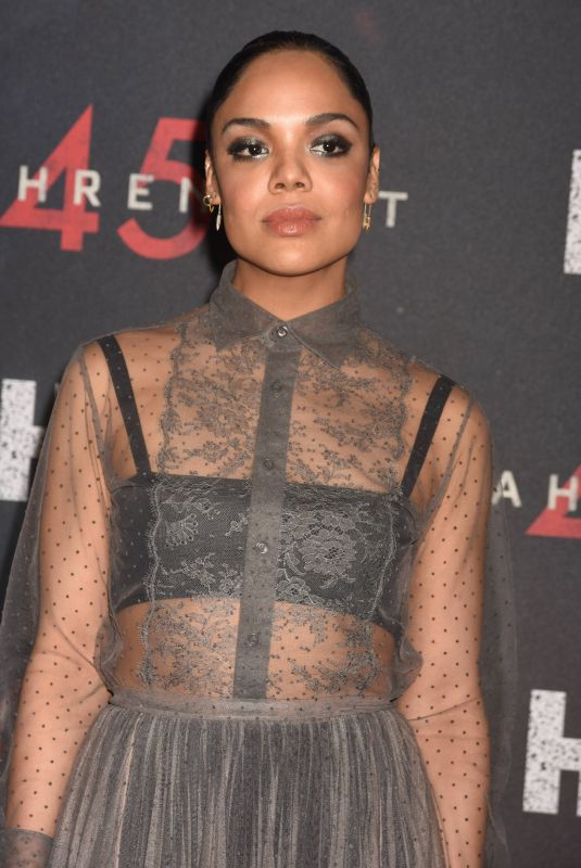 TESSA THOMPSON at Fahrenheit 451 Premiere in New York 05/08/2018