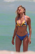 TETYANA VERYOVKINA in Bikini at a Beach in Miami 05/02/2018