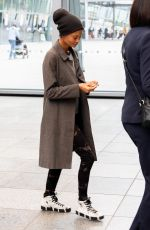 THANDIE NEWTON at Heathrow Airport in London 04/30/2018